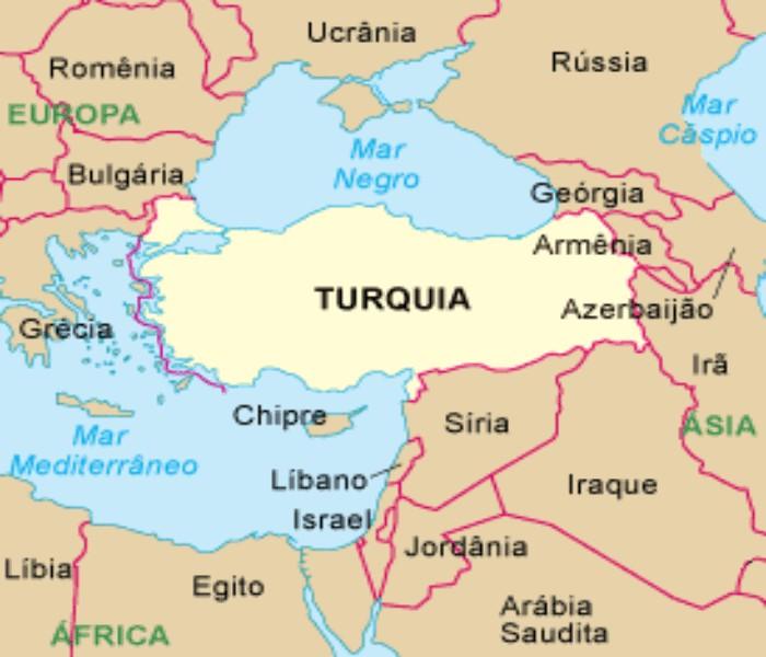 Resultado de imagem para turqui e paises fronteiras mapa